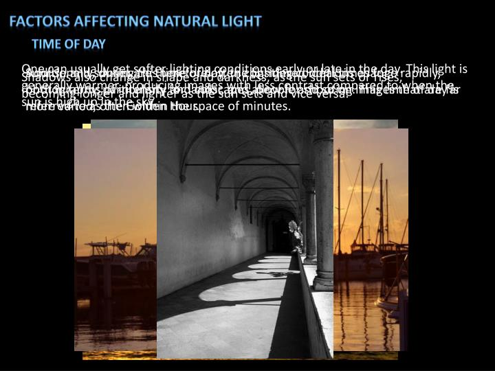 Factors affecting natural light