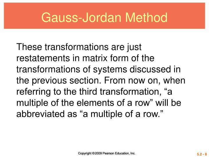 Gauss-Jordan Method