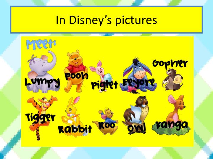 In Disney's pictures