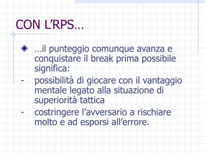 CON L'RPS…