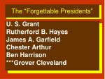 the forgettable presidents