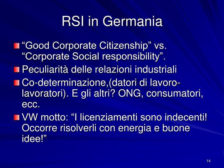 RSI in Germania