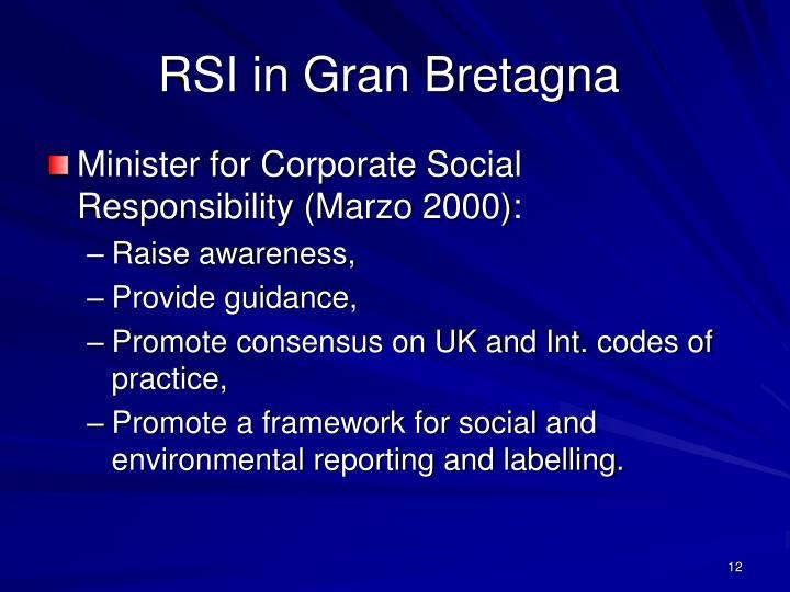 RSI in Gran Bretagna