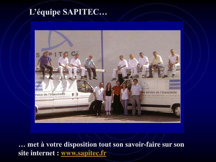L'équipe SAPITEC…