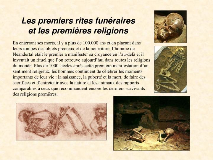 Les premiers rites funéraires