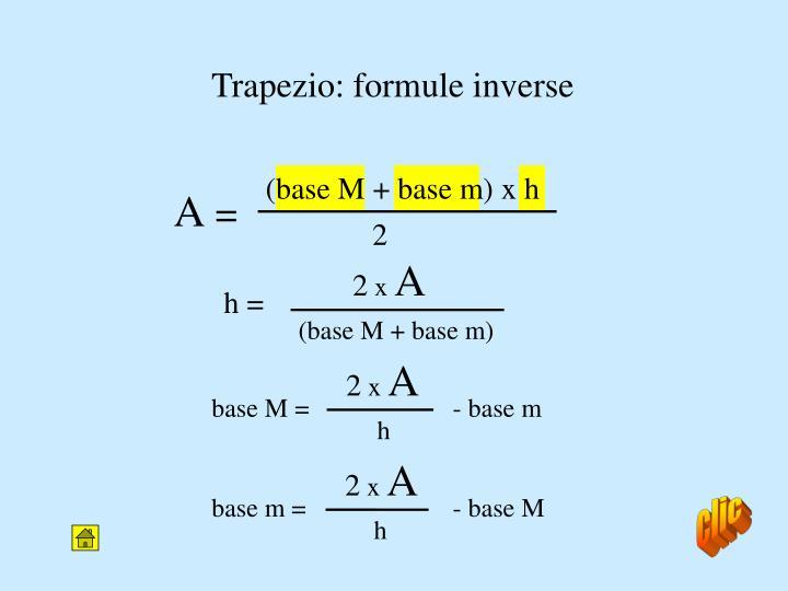 Trapezio: formule inverse