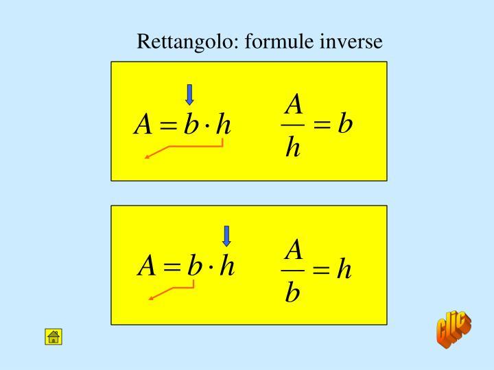 Rettangolo: formule inverse