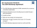 not only european standards the cen workshop agreement