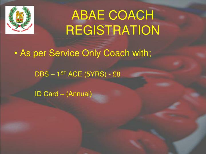 ABAE COACH REGISTRATION