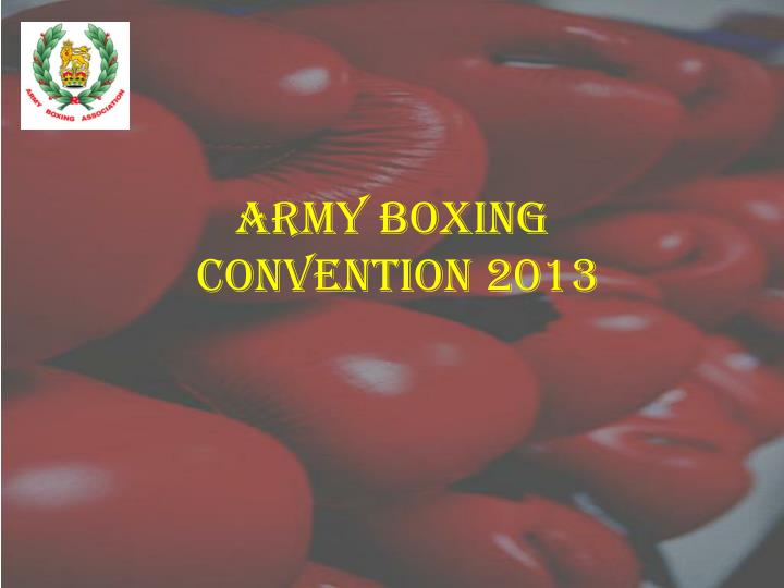 Army boxing convention 2013
