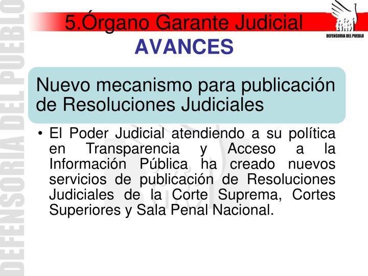 5.Órgano Garante Judicial