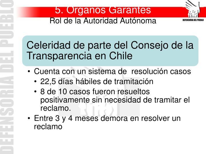 5. Órganos Garantes