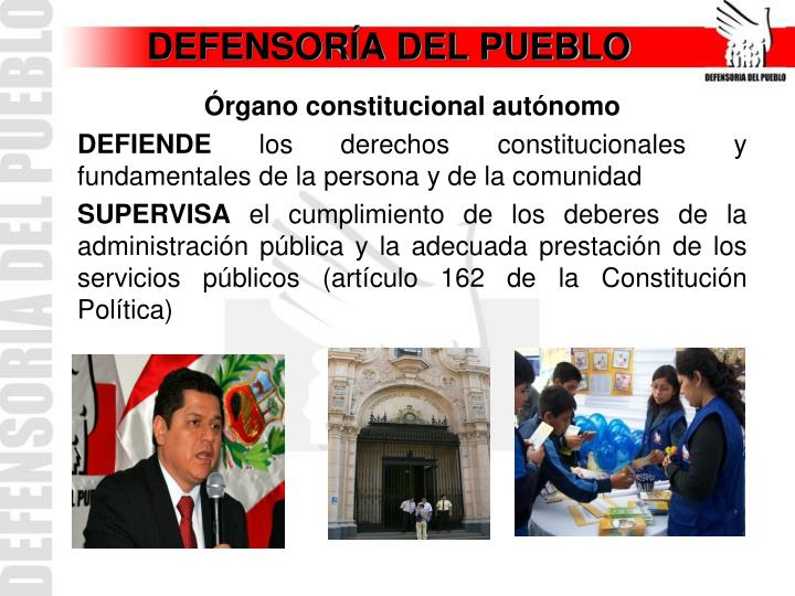 Defensor a del pueblo
