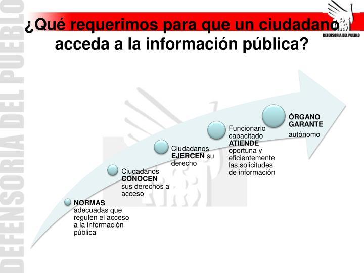 ¿Qué requerimos para que un ciudadano acceda a la información pública?