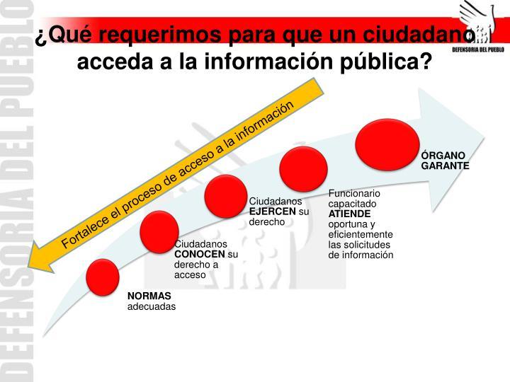 Fortalece el proceso de acceso a la información