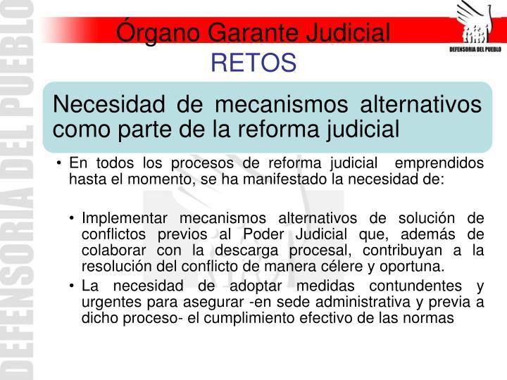 Órgano Garante Judicial