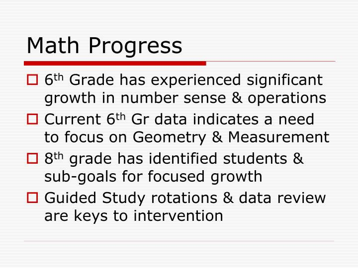 Math Progress