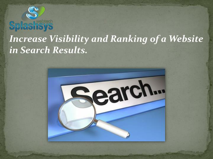 Increase Visibility and Ranking of a Website