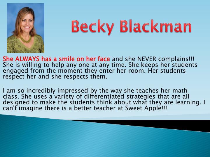 Becky Blackman