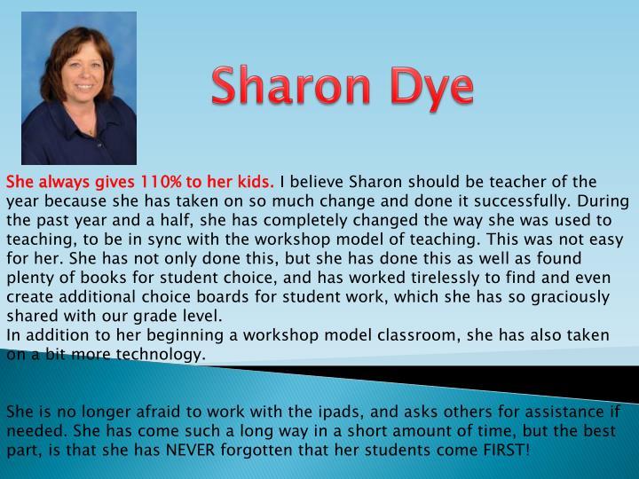 Sharon Dye