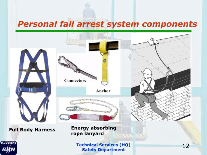 Personal fall arrest system components