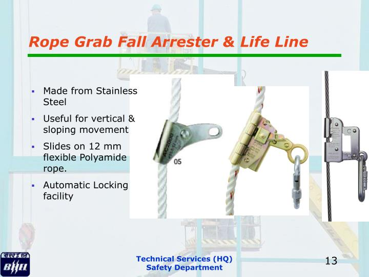 Rope Grab Fall Arrester & Life Line