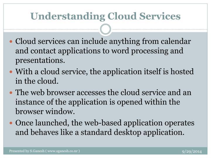 Understanding Cloud Services