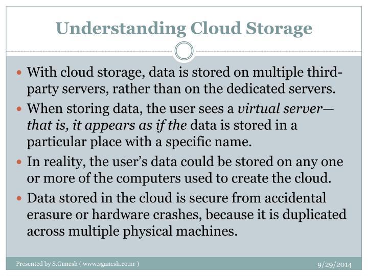 Understanding Cloud Storage