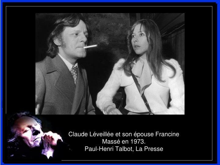 Claude Léveillée et son épouse Francine Massé en 1973.