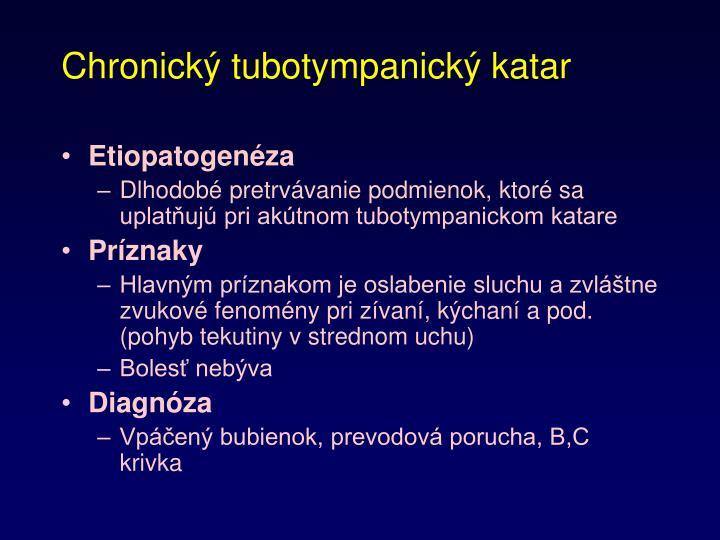 Chronický tubotympanický katar