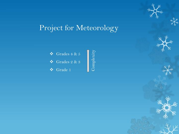 Project for Meteorology
