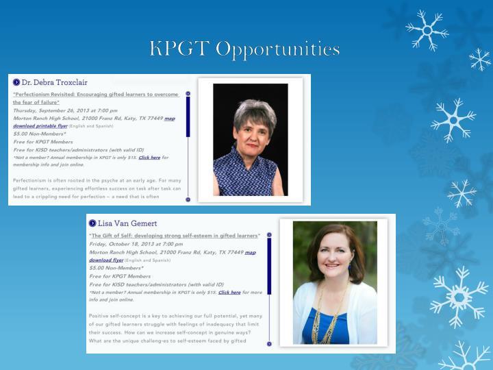 KPGT Opportunities