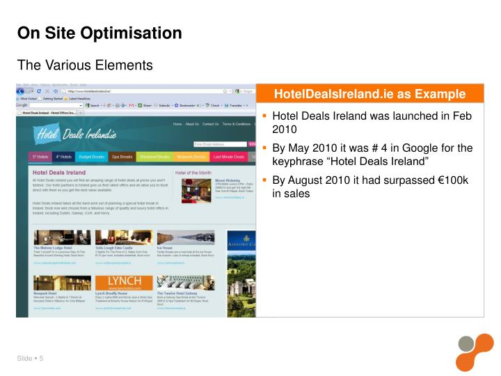 On Site Optimisation