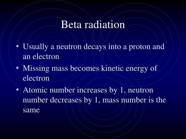 Beta radiation