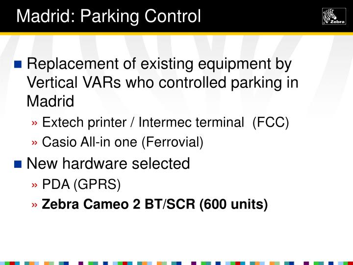Madrid: Parking Control