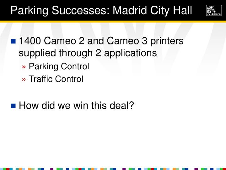 Parking Successes: Madrid City Hall
