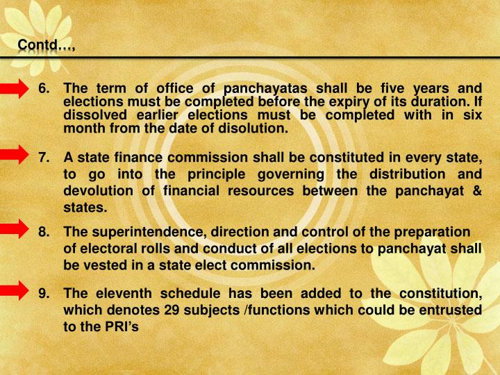 panchayat before and after 73rd amendment 73rd amendment in constitution of india  after part viii of the  a panchayat constituted upon the dissolution of a panchayat before the expiration of its.