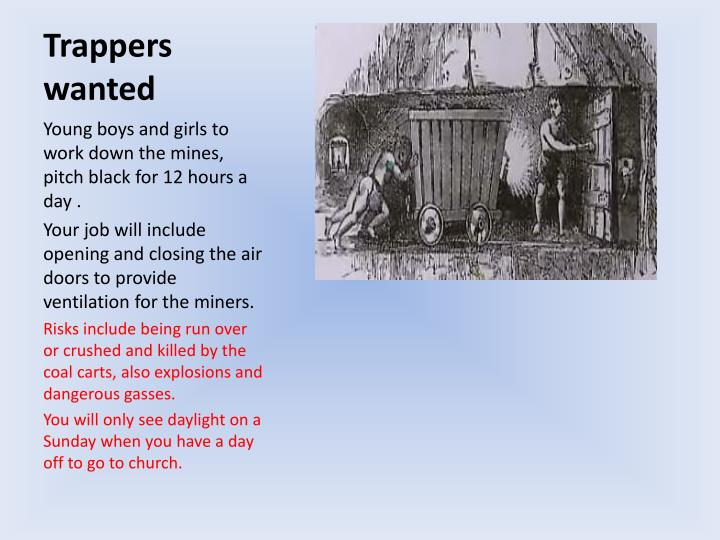 Trappers wanted