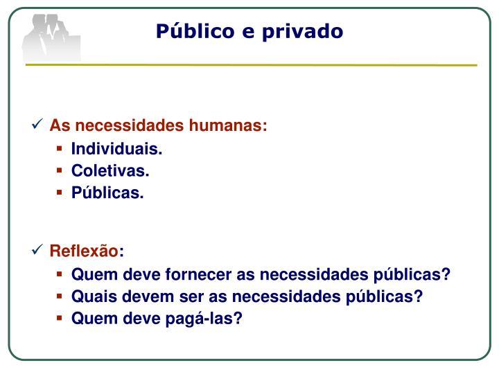 Público e privado