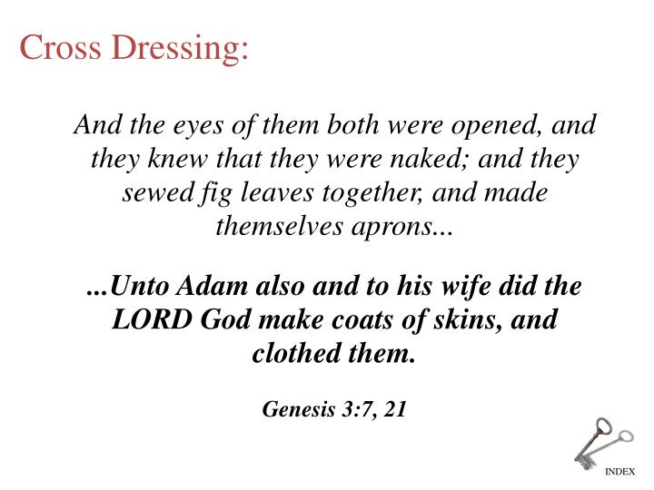 And the eyes of them both were opened, and they knew that they were naked; and they sewed fig leaves together, and made themselves aprons...