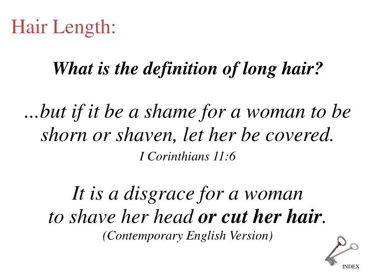 What is the definition of long hair?