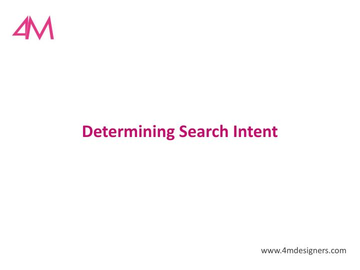 Determining Search Intent
