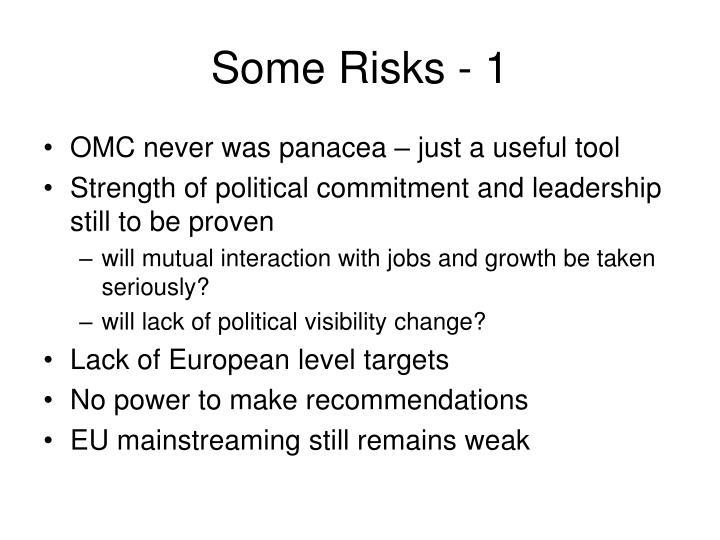 Some Risks - 1