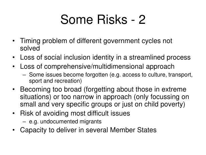 Some Risks - 2