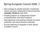 spring european council 2006 1