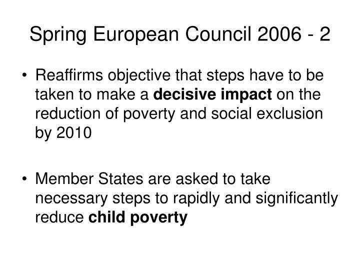 Spring European Council 2006 - 2