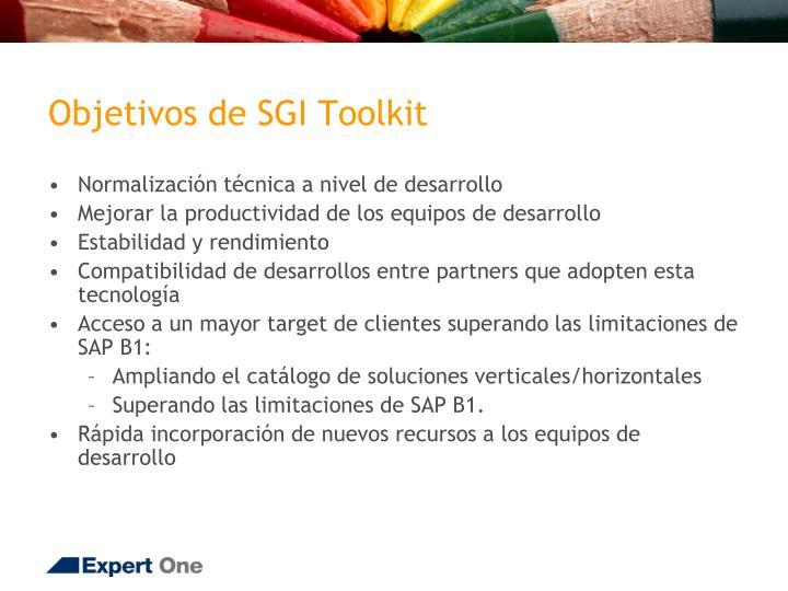 Objetivos de SGI Toolkit