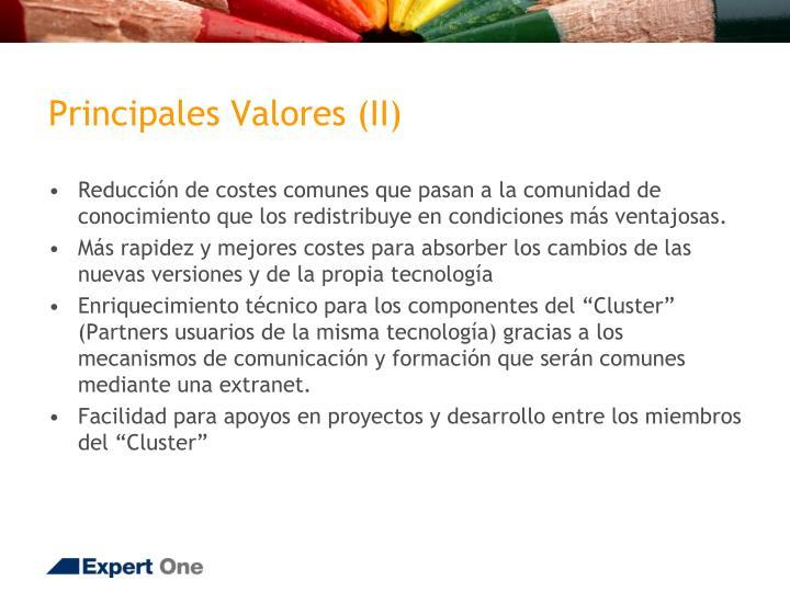 Principales Valores (II)
