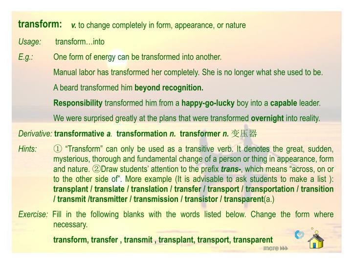transform: