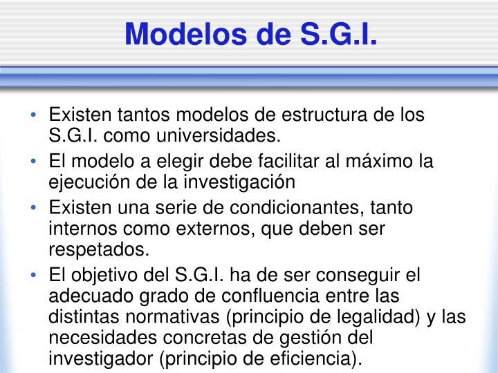 Modelos de S.G.I.